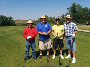 Ben, Tyler and teammates at SRHT golf tornament