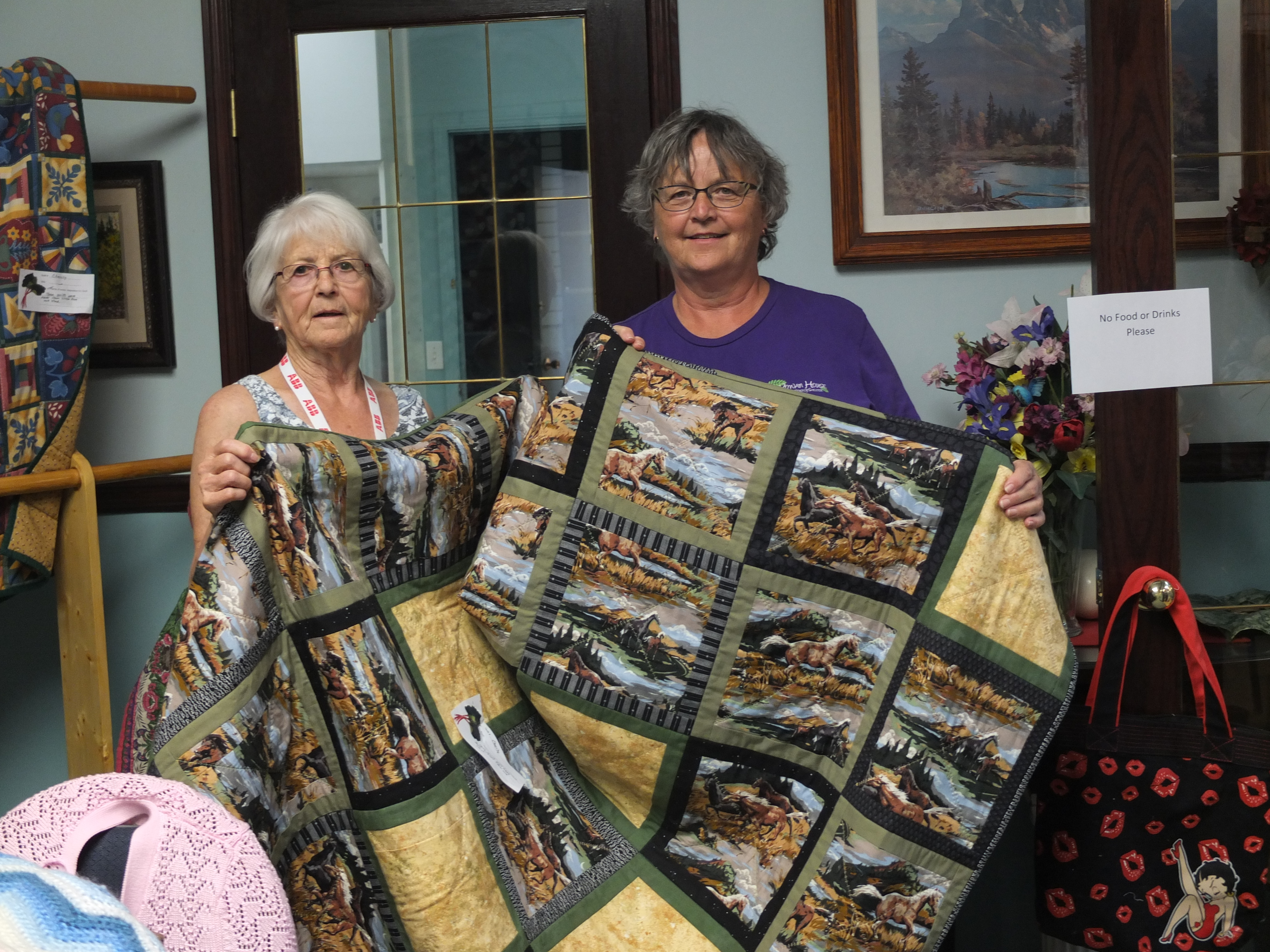 Quilt donated to Rowan House by DVQ 2016